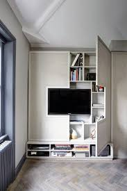 awesome built in television wall with bookcase shelves ideas