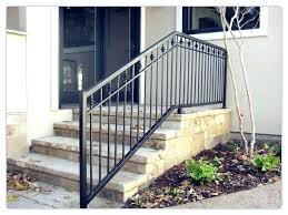wrought iron railing outdoor stair railing rustproof wrought iron railings metal pertaining to handrail decorations wrought