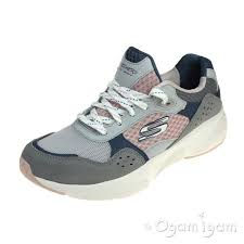 Skechers Meridian Charted Womens Grey Pink Trainer
