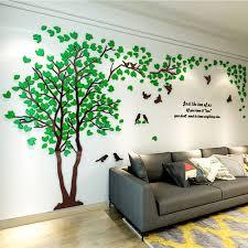 3d wall sticker green s 1 0 x 2 0m