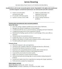 Summary Of Qualification Cdl Truck Driver Resume Example Plus Can  Communication With Customer 11 Summary Of