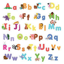 animal alphabet wall decals baby and