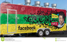 facebook office usa. Facebook Inc S Food Truck At The Corporate Office In California Usa