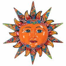 mexican ceramic sun wall art