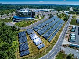 the system is prised of almost 4 000 sunpower solar panels that will generate 2 4 million kwh every year supplying a substantial portion of the power