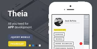 Theia App Making Jquery Mobile Template