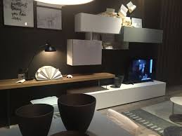 wall unit for tv with working desk area
