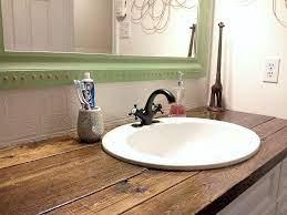 Rustic Wood Vanity Top Diy Bathroom Makeover Rustic Bathroom Vanities Diy Bathroom