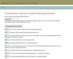 Planting Calendar Skippys Vegetable Garden Generate Your Own Vegetable