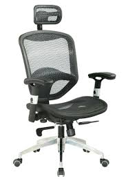 Desk Chairs : Wave Ergonomic Mesh Office Chair Leather Seat ...