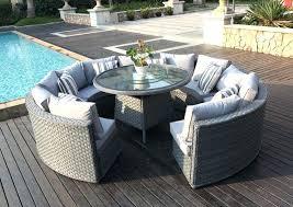 round garden dining table round rattan outdoor patio garden furniture dining table set rattan garden dining