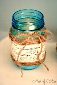 Mason Jars Decorated With Twine Sheet Music Mason Jar Candle 10