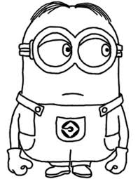 Printable Colouring Pictures Minionsll