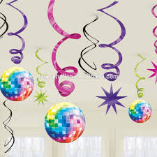 Congratulation Party Decorations Coloured Music Notes Hanging Swirl Ceiling Dangling Danglers