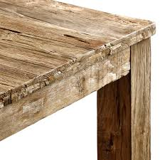 Reclaimed Teak Dining Table Unmilled Dining Table Natural Teak 100 Reclaimed Teak Raft