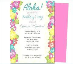 Hawaiian Luau Party Invitation Template Free Birthday Invitations Of