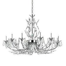 eurofase 19394 015 gie 12 light chandelier chrome