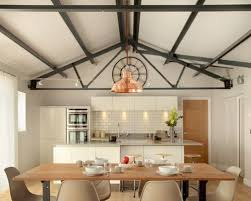 kitchen track lighting ideas. Medium Sized Rural Galley Kitchen/diner In Buckinghamshire With White Cabinets, Engineered Stone Countertops Kitchen Track Lighting Ideas C