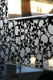 skull wallpaper for bedroom small q black