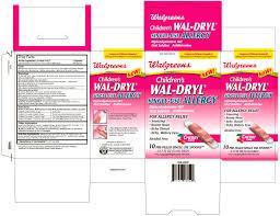 Children S Benadryl Allergy Dosage Chart Childrens Wal Dryl Single Use Allergy Liquid Walgreen Company