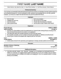Professional: Resume Template. Create my Resume