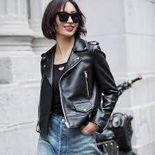 2018 spring genuine leather jacket women 2017 fashion real sheepskin coat rivet motorcycle biker jacket female sheep leather coat from red2016