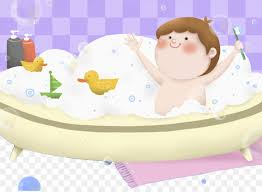 torte bathing baby in the bathtub