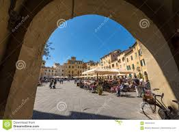 Mura Storiche Lucca Italy Seating Chart Piazza Anfiteatro Lucca Tuscany Italy Editorial Stock