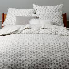 400 thread count organic optic prism sateen duvet cover shams platinum west elm