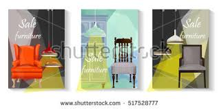 Furniture Sale Advertisement Flyers Vector Banners Sale Tag Stock