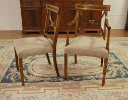 image of vintage dining chairs cushions