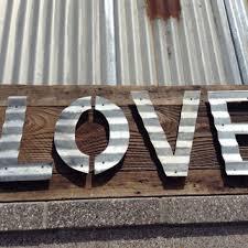 vintage reclaimed barn wood sign patina corrugated steel rustic minimalist love valentine 39 s