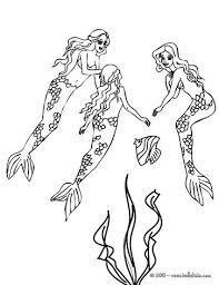 Small Picture Startling H2o Mermaid Coloring Pages Realistic Mermaid Coloring