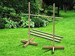 Wooden Limbo Game FiNeWaY 100100M LARGE WOODEN LIMBO GAME POLE BAR PUB KIDS ADULTS 15