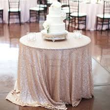 champagne 90 inch round tablecloth linen outdoor sequin pertaining to prepare 11