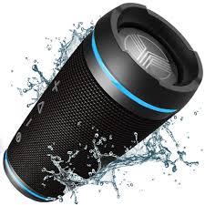 Kove Speaker Green Light Kove Commuter Portable Splashproof Wireless Bluetooth 4 1