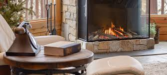 seat by fireplace