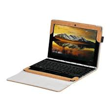 stock protective leather case for lenovo yoga book brown