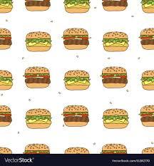 cheeseburger pattern. Interesting Cheeseburger Pattern Hamburger Cheeseburger Vector Image Throughout Cheeseburger