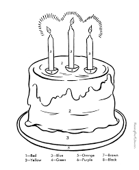 Small Picture Color by Number coloring pages 002 Following Directions