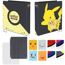 Totem World Pikachu 3-Ring Binder with 25 9-Pocket Pages and 1 Mini Album  Portfolio Binder - Perfect for Pokemon Cards- Buy Online in China at  china.desertcart.com. ProductId : 146474371.
