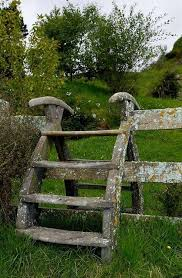 england style steps: old fence stiles  old fence stiles