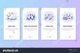 Onboarding Screens User Interface Kit Mobile Stock Vector Royalty