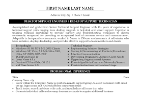 Desktop Engineer Sample Resume 15 Technical Support Example