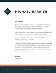Orange And Navy Blue Simple Lines Personal Letterhead - Templates By ...