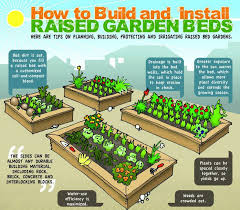 how to make a raised vegetable garden. DIY Raised Beds: Growing Food Anywhere [INFO-GRAPHIC] How To Make A Vegetable Garden E