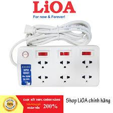 Bảng giá Ổ cắm điện Lioa 6 ổ 3 chấu Super 6SS2.5-2 công suất cao 3300 W,  dây 2.5 mét
