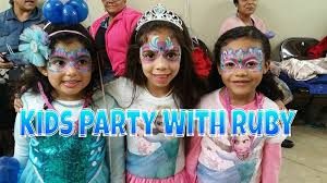 kids party with ruby party entertainment nyc face painter balloon artist characters