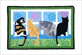cat toy puzzle rug home ideas collection jellybean kitties in the window accent area play