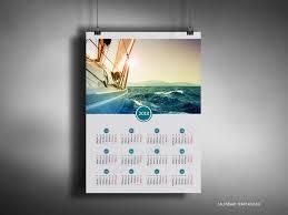 Calendar Sample Design Big year calendar 24 with image in PDF format Yearly wall calendar 1